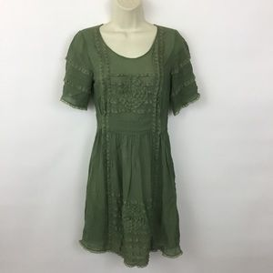 Anthropologie Lil sheer lace dress